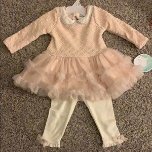Nannette Baby lt pink 2 piece outfit. NWT